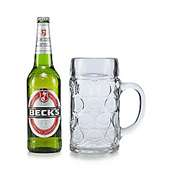 Debenhams - Becks beer and glass stein set