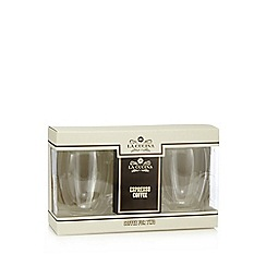 La Cucina - Double walled coffee glasses with Espresso Coffee set