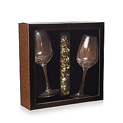 Debenhams - Cheers wine glasses and milk chocolate pralines