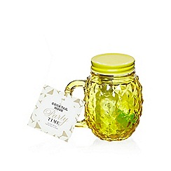 Debenhams - Pineapple shaped mug and cocktail syrup gift set