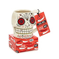 Debenhams - Candy skull mug and hot chocolate drink mix set