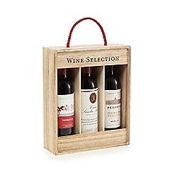 Debenhams - Selection of red wines in presentation box