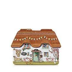 Debenhams - Scottish biscuit assortment in a cottage shaped tin