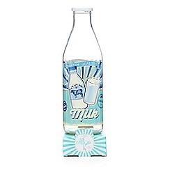 Sweet Shop - Glass milk bottle with milk bottle sweets