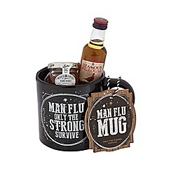Debenhams - Black 'Man Flu' mug with honey and whiskey