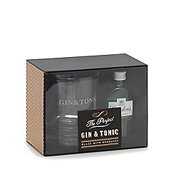 Debenhams - Gin and tonic glass with gin set