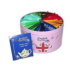 English Tea Shop - Union Jack Round Tin - 30 tea bags
