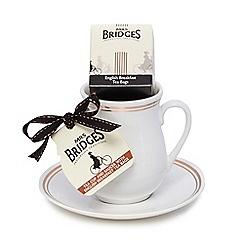 Mrs Bridges - Set of mug, saucer and tea bags