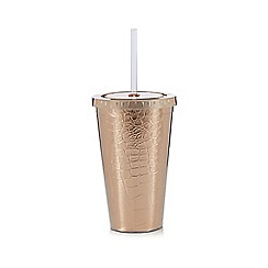 Debenhams - Snake print cup with milkshake mix