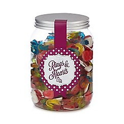 Sweet Shop - Jar of rings and hearts sweets
