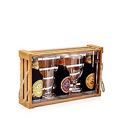 Debenhams - Set of three 'Shepherd Neame & Co' Ales with two glasses