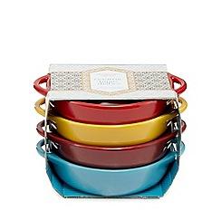 Debenhams - Set of four multi-coloured ceramic tapas dishes