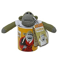 Debenhams - Monkey mug and plush set with Walkers twin pack shortbread - 34g