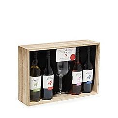 Debenhams - Wine tasting selection of four and wine glass