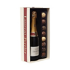 Laurent Perrier - Brut champagne and chocolate truffles gift set
