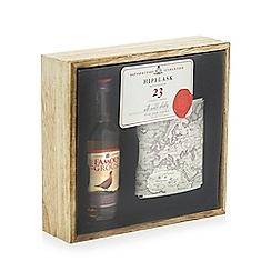 Debenhams - 'Famous Grouse' map print hip flask and scotch whisky set