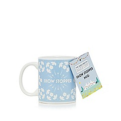 The Great British Bake Off - Light blue floral print 'Show Stopper' mug
