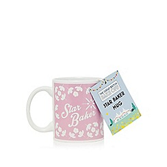 The Great British Bake Off - Pink floral print 'Star Baker' mug