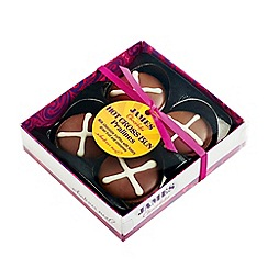 James Chocolates - Milk chocolate truffles made with Easter spices and fruit - 80g