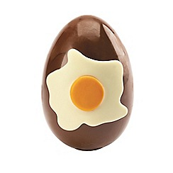 James Chocolates - Salted caramel milk chocolate egg decorated with a white chocolate fried egg 225g