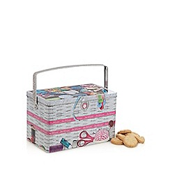 Debenhams - Sewing Box Shaped Biscuit Tin With Danish Cookies
