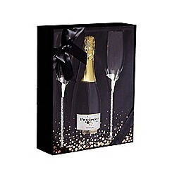 Debenhams - Bottle Of Prosecco And Two Flute Glasses In A Gift Box