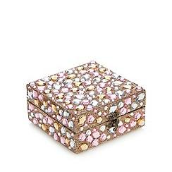 Debenhams - Multi-coloured stone trinket box with milk and white chocolates