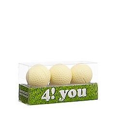 Debenhams - Set of three chocolate golf balls