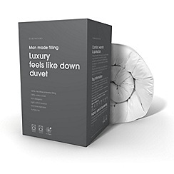 Debenhams - 13.5 tog 'Feels like down' all seasons luxury synthetic duo duvet (4.5 + 9 tog)