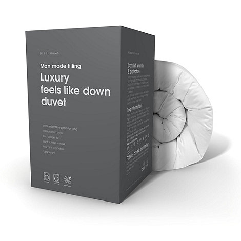 Debenhams - 13.5 tog +Feels Like Down+ microfibre all seasons duvet (4.5 + 9 tog)