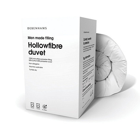 Debenhams - White +hollowfibre+ 13.5 tog duvet