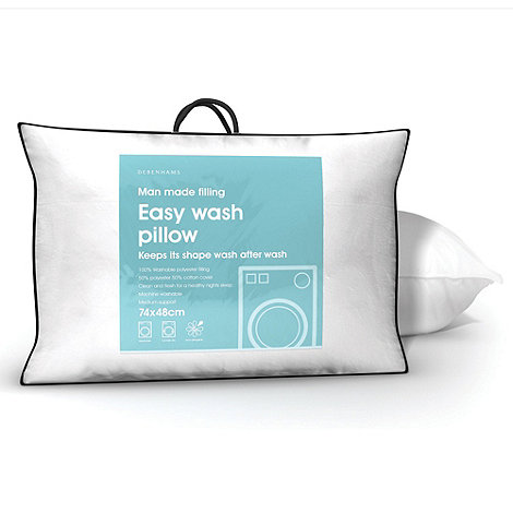 Debenhams - White +Easy Wash+ hollow fibre pillow