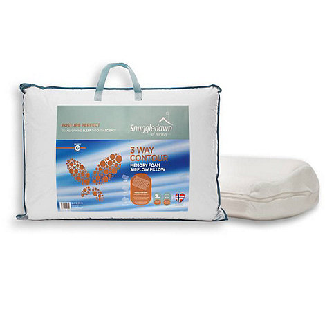 Snuggledown - +Posture Perfect+ 3 way microfibre contour pillow