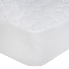Home Collection - Hollowfibre quilted cotton blend mattress protector