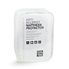 Home Collection - White hollowfibre anti-allergy quilted mattress protector/ pillow protector