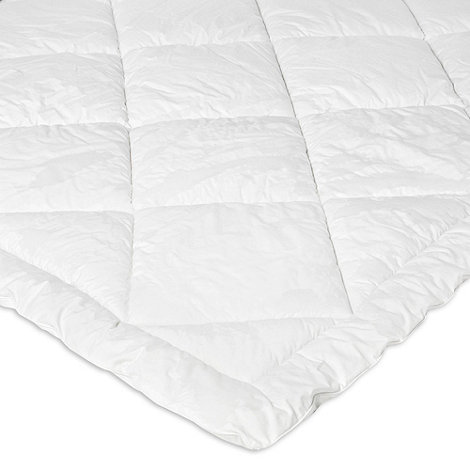 Debenhams - White spiral fibre mattress topper
