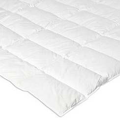Debenhams - White luxury duck down & feather mattress topper