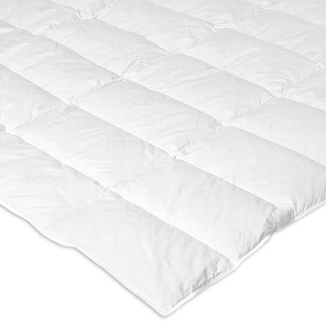Debenhams - White luxury duck down and feather mattress topper