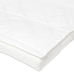 Debenhams - White pillow top duck down mattress topper
