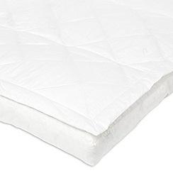 Debenhams - White pillow top duck down mattress topper