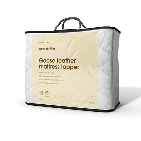 Debenhams - White goose feather mattress topper