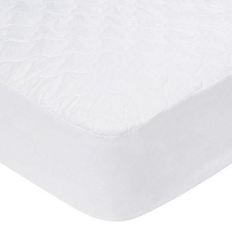 Debenhams - Hollowfibre quilted cotton mattress protector