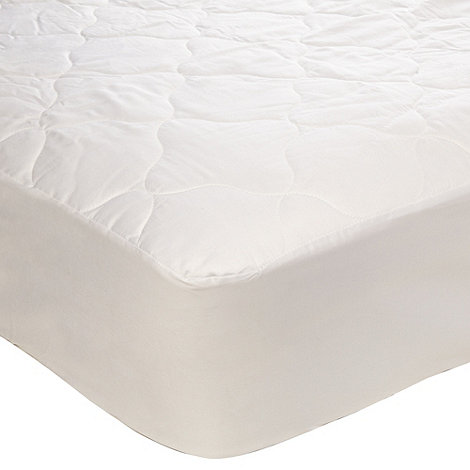 Debenhams - Hollowfibre luxury quilted mattress protector