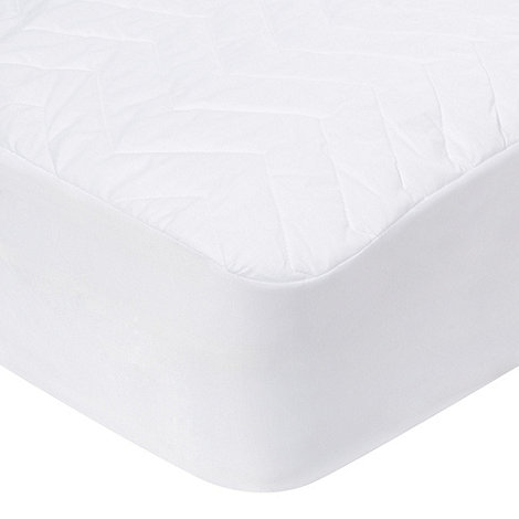 Debenhams - Polyester filled quilted waterproof mattress protector