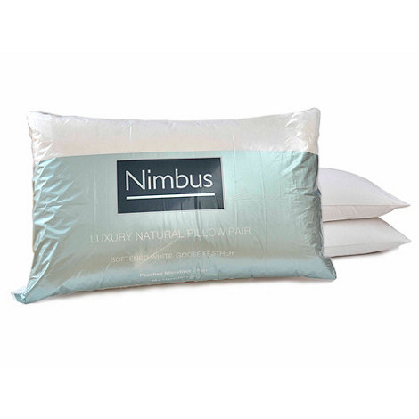 Nimbus - Softened goose feather pillow pair