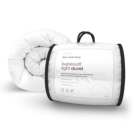 Debenhams - 10.5 tog +Supersoft+ light synthetic duvet