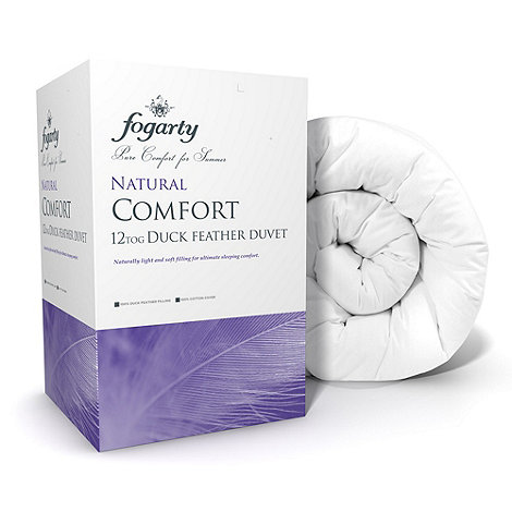 Fogarty - 12 tog +Natural comfort+ duck feather natural duvet