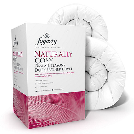 Fogarty - 15 tog +Naturally cosy+ all seasons duck feather natural duo duvet (4.5 + 10.5 tog)