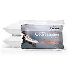 Fogarty - Softened goose feather pillow pair