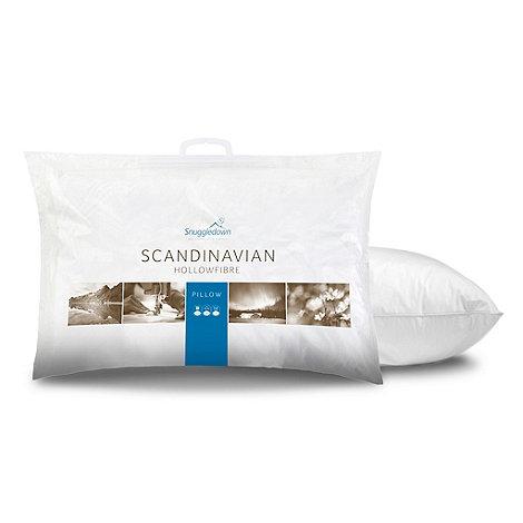 Snuggledown Scandinavian Pillow : Snuggledown Scandinavian polyester pillow 4 pack Debenhams